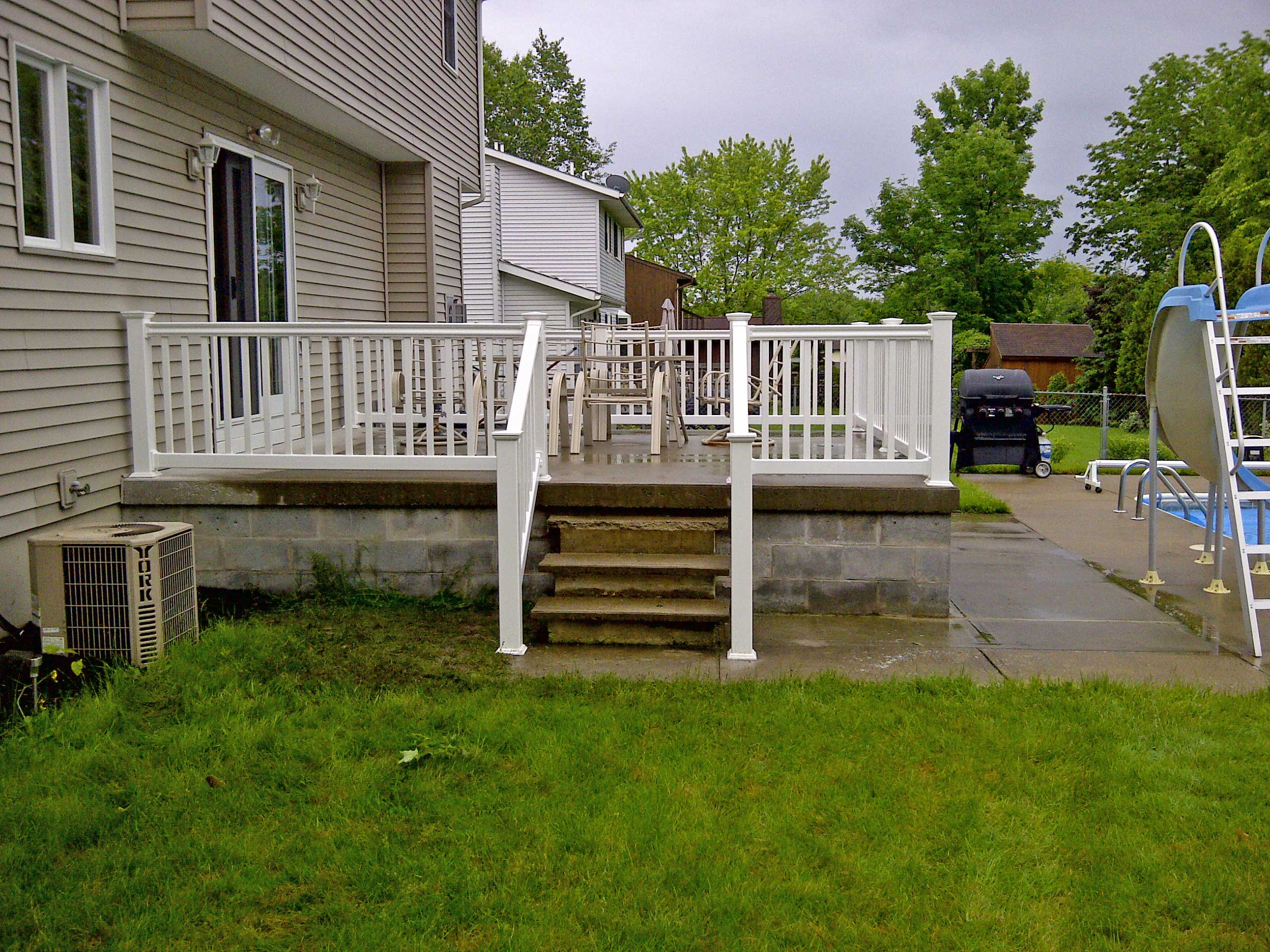 How To Install Vinyl Railing On Concrete Porch HOUSE STYLE ...