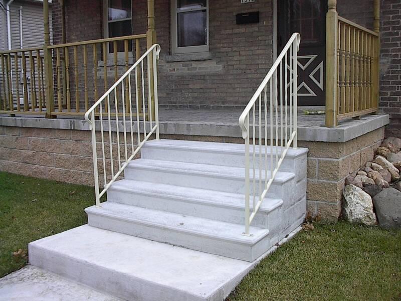 White Aluminum Railings For Concrete Steps HOUSE STYLE ...